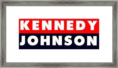 1960 Vote Kennedy Johnson Framed Print