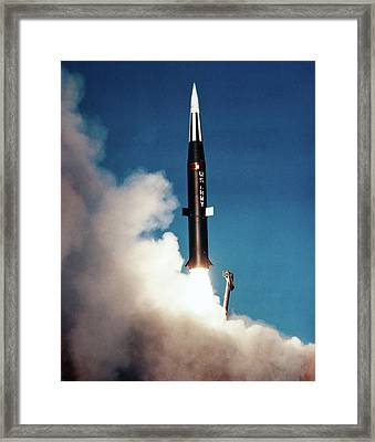 1960s 1963 Pershing Missle Fired Framed Print