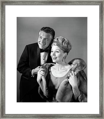 1960s 1970s Couple In Evening Wear Man Framed Print