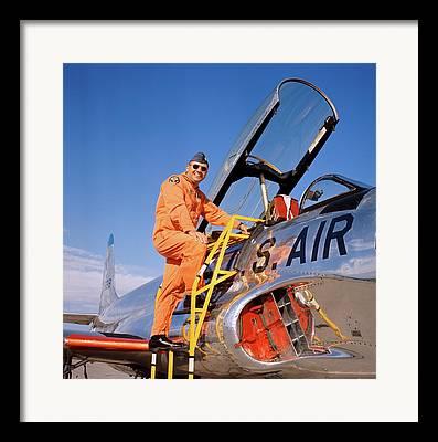Orange Jumpsuit Framed Prints