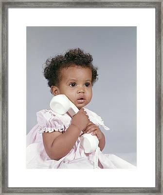 1960s African American Baby Girl Framed Print