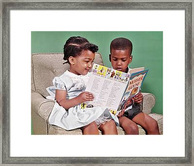 1960s African American Boy And Girl Framed Print