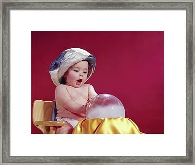 1960s Baby Fortune Teller Wearing Framed Print
