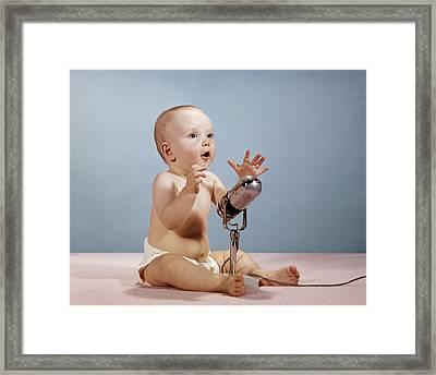 1960s Baby Talking Singing Framed Print