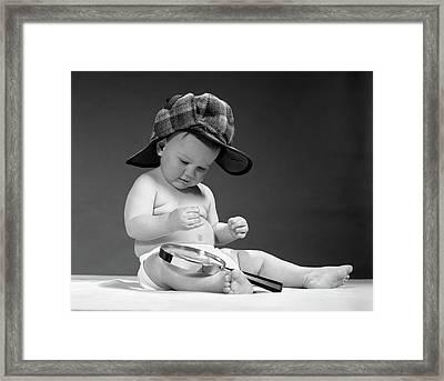 1960s Baby Wearing Sherlock Holmes Framed Print