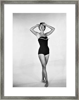 1960s Bathing Suit Design Framed Print by Underwood Archives