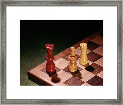 1960s Chess Pieces Checkmate Board Game Framed Print