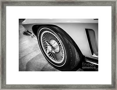 1960's Chevrolet Corvette C2 Spinner Wheel Framed Print by Paul Velgos