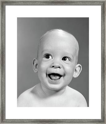 1960s Close-up Portrait Of Nearly Bald Framed Print