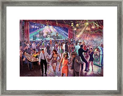 1960's Dance Scene Framed Print