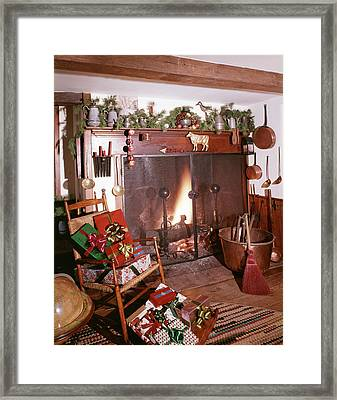 1960s Early American Style Christmas Framed Print
