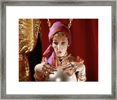1960s Female Gypsy Fortune Teller Framed Print