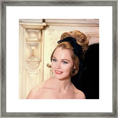 1960s High Fashion Blue Eyed Model Framed Print