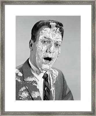 1960s Man Face Shoulders Pie Framed Print