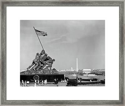 1960s Marine Corps Monument Framed Print