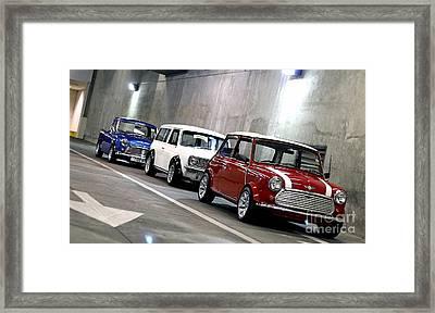 1960s Mini Cooper Framed Print by Marvin Blaine