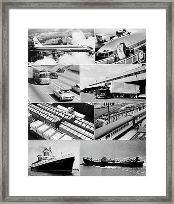 1960s Montage Of Various Forms Framed Print