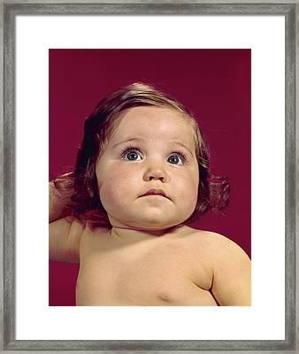 1960s Portrait Chubby Cheeks Big Eyes Framed Print