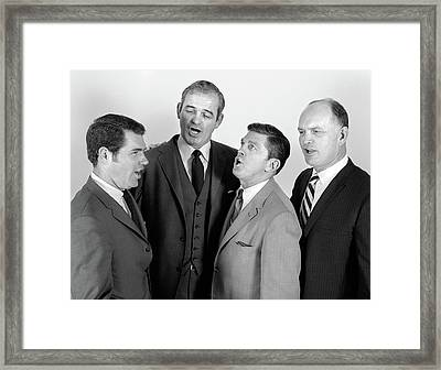 1960s Quartet Of Four Businessmen Framed Print