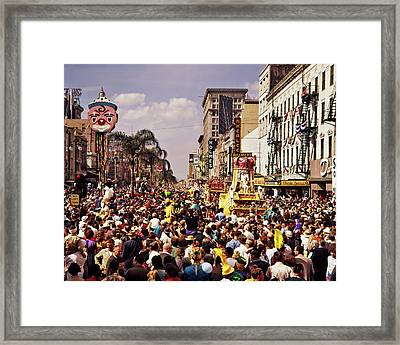 1960s Rex Parade On Canal Street Mardi Framed Print