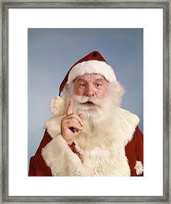 1960s Santa Claus Looking At Camera Framed Print