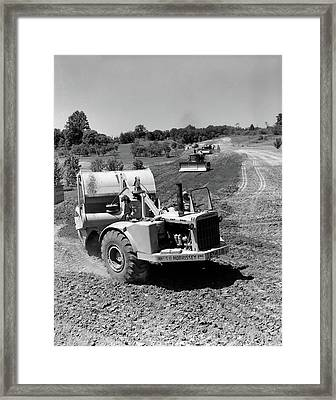 1960s Series Of 3 Tractors Plowing & Framed Print