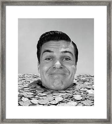 1960s Smiling Man Looking At Camera Framed Print