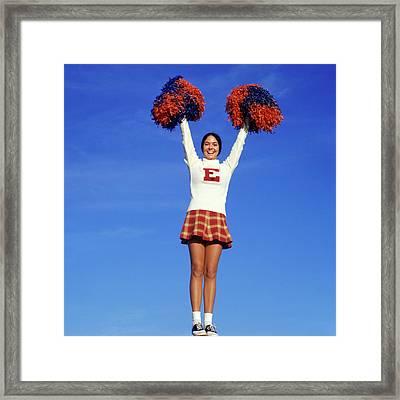 1960s Teenage Girl Cheerleader Full Framed Print