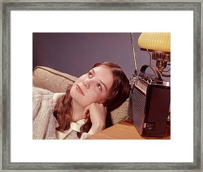 1960s Teenage Girl With Daydreaming Framed Print