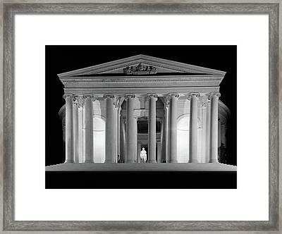 1960s Thomas Jefferson Memorial Lit Framed Print