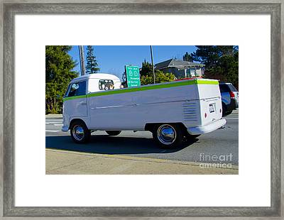 1960's Vw Truck  Framed Print by Aaron Fromenthal