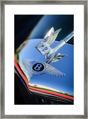 1961 Bentley S2 Continental Hood Ornament - Emblem Framed Print