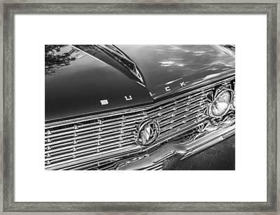 1961 Buick Skylark Bw Framed Print by Rich Franco
