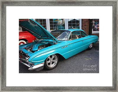 1961 Buick Two Door Sedan Front And Side View Framed Print by John Telfer