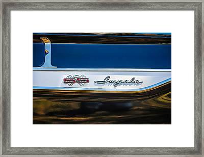 1961 Chevrolet Bel Air Impala Bubble Top Emblem -0603bwq Framed Print by Jill Reger
