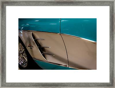 1961 Chevrolet Corvette Framed Print by David Patterson