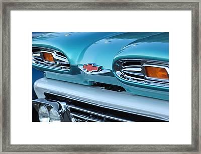1961 Chevrolet Headlights Framed Print by Jill Reger
