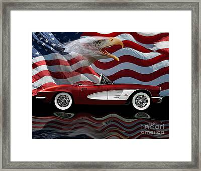 1961 Corvette Tribute Framed Print by Peter Piatt