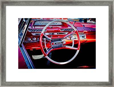 1961 Dodge Phoenix Steering Wheel Framed Print