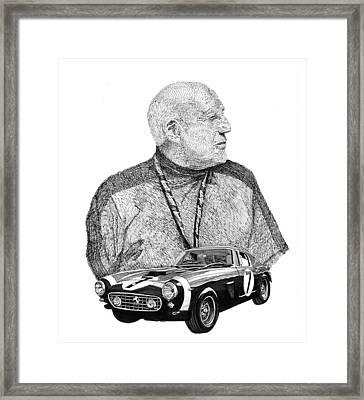 Sir Stirling Moss 1961 Ferrari G T 250 Framed Print