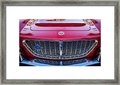 1961 Fiat Osca 1500s Spider Grille Emblem Framed Print by Jill Reger
