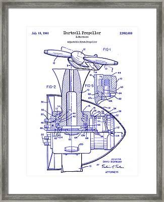 1961 Hartzell Propeller Blueprint Framed Print by Jon Neidert