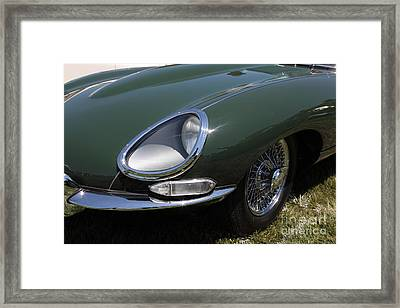 1961 Jaguar Xke Roadster 5d23321 Framed Print by Wingsdomain Art and Photography