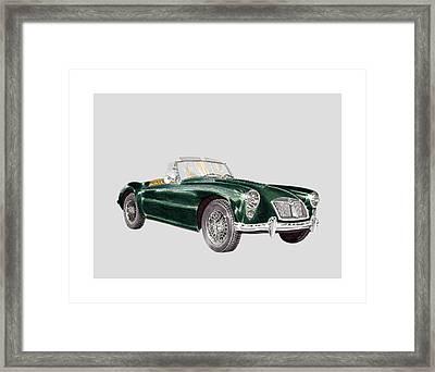 1961 M G A Green Framed Print by Jack Pumphrey