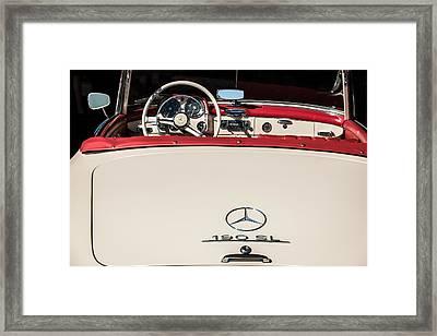 1961 Mercedes-benz 190 Sl Emblem - Steering Wheel -1996c Framed Print