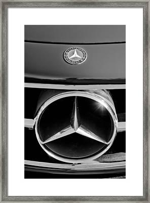 1961 Mercedes-benz 300 Sl Grille Emblem Framed Print by Jill Reger