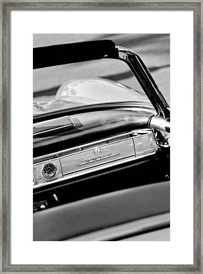 1961 Mercedes-benz 300 Sl Roadster Dashboard Emblem Framed Print