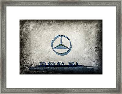 1961 Mercedes Benz 300sl Roadster Emblem -0585ac Framed Print by Jill Reger
