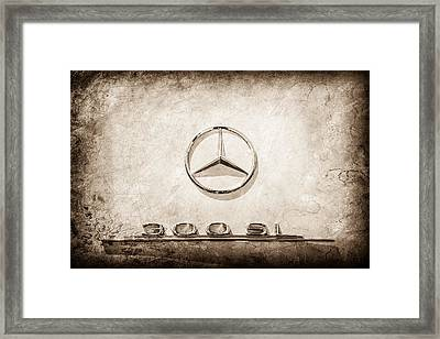 1961 Mercedes Benz 300sl Roadster Emblem -0585s Framed Print by Jill Reger