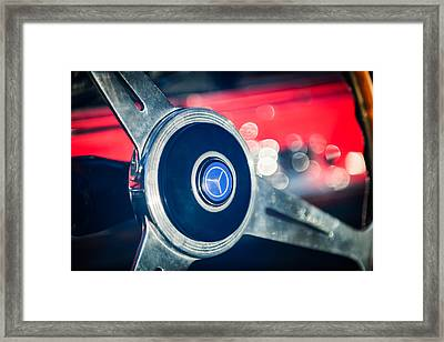1961 Mercedes Benz 300sl Roadster Steering Wheel Emblem Framed Print